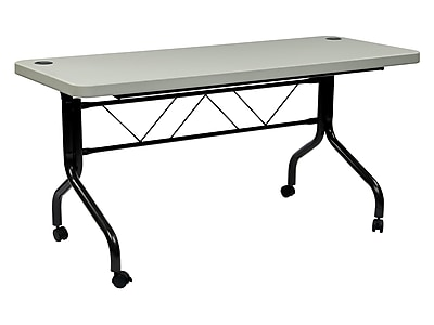 Work Smart Ft Series Folding Table  Gray Ft6635