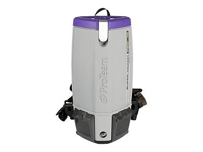 ProTeam Super Coach Pro 10 Backpack Vacuum, Gray/Purple (107304)