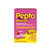 Pepto-Bismol Cherry Multi-Symptom Relief Digestive Aid Chewable Tablet, 30/Box