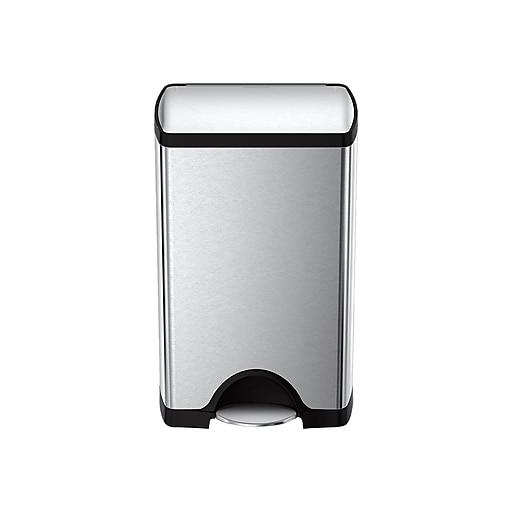 simplehuman Indoor Step Trash Can, Brushed Stainless Steel, 10 Gal. (CW1814)
