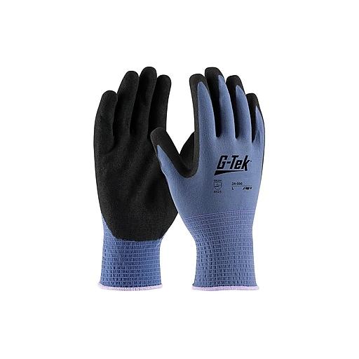 G-Tek GP Nitrile Gloves, Blue Dozen (34-500/L)