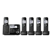 Panasonic KX-TGF345B 5-Handset Cordless Telephone, Black