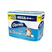 Charmin Ultra Soft Mega 2-Ply Standard Toilet Paper, White, 264 Sheets/Roll, 18 Rolls/Pack (52776)