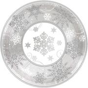 "Amscan Sparkling Snowflake Metallic Plate, 12"" x 12"", 5/Pack, 8 Per Pack (591559)"