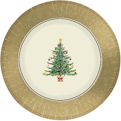 Amscan Victorian Tree Metallic Plate, 7