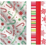 """Amscan Christmas Printed Tissue Paper, Foil and Paper, 20"""" x 20"""", 3/Pack, 30 Per Pack (180127)"""