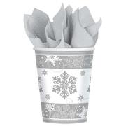 Amscan Sparkling Snowflake Paper Cup, 9oz, 5/Pack, 8 Per Pack (581559)
