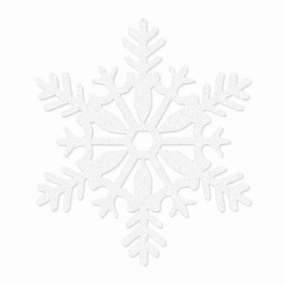 "Amscan Glitter Snowflake Decoration, White, Plastic, 11"", 5/Pack (191363)"