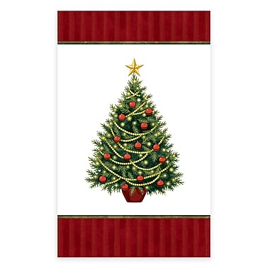 Amscan Twinkling Tree Plastic Tablecover, 54