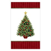 """Amscan Twinkling Tree Plastic Tablecover, 54"""" x 84"""", 2/Pack, 3 Per Pack (679729)"""