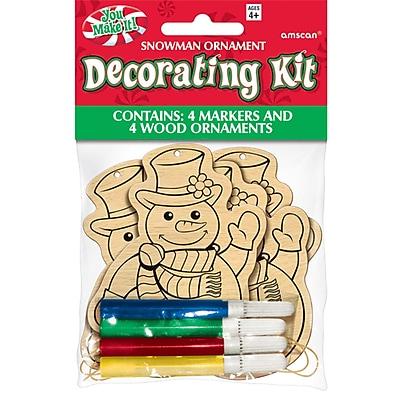 Amscan Snowman Ornament Decorating Kit, 5/Pack, 4 Per Pack (394910)