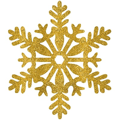 Amscan Glitter Snowflake Decoration, Gold, Plastic, 11