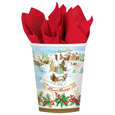 Amscan Holiday Magic Paper Cup, 9oz, 3/Pack, 18 Per Pack (731685) 2536867