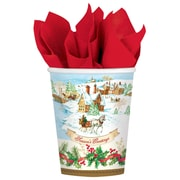 Amscan Holiday Magic Paper Cup, 9oz, 3/Pack, 18 Per Pack (731685)