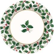 "Amscan Seasonal Holly Paper Plate, 10"" x 10"", 4/Pack, 40 Per Pack (721330)"