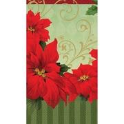 "Amscan Vintage Poinsettia Guest Towel 7.75"" x 4.5"", 3/Pack, 36 Per Pack (839543)"