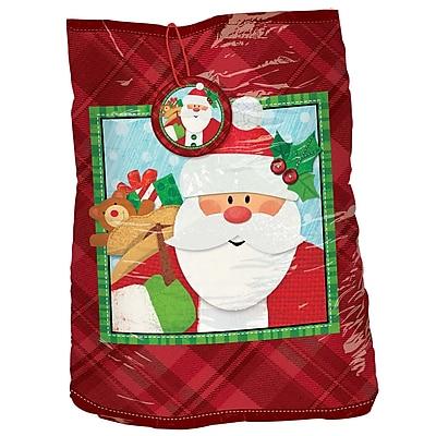 Amscan Crafty Christmas Giant Gift Sack, Plastic, 56