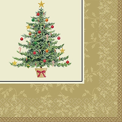 Amscan Classic Victorian Tree Lunch Napkin, 6.5