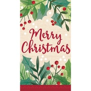 "Amscan Merry Holly Day Guest Towel 7.75"" x 4.5"", 5/Pack, 16 Per Pack (531680)"