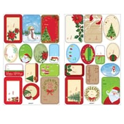 Amscan Traditional Christmas Adhesive Labels, 5/Pack, 156 Per Pack (260074)
