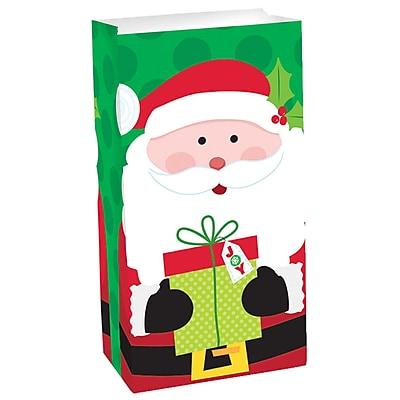 Amscan Santa Treat Bag, 10