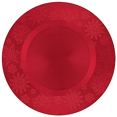 Amscan Snowflake Charger, Red, 13