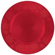 """Amscan Snowflake Charger, Red, 13"""" x 13"""", 3/Pack (430515)"""