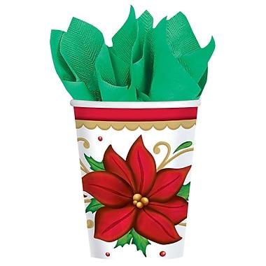 Amscan Winter botanical Paper Cup, 9oz, 2/Pack, 50 Per Pack (681177)