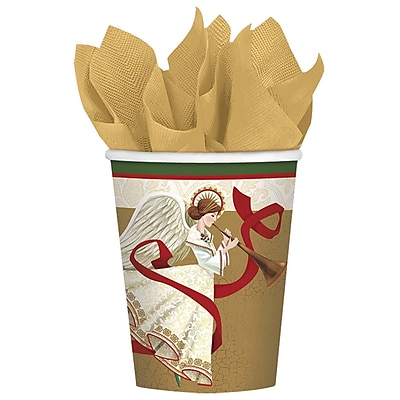 Amscan Holiday Spirit Paper Cup, 9oz, 5/Pack, 8 Per Pack (581686)