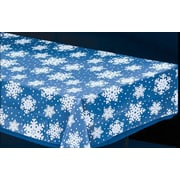 """Amscan Snowflake Tablecover, Clear, 54"""" x 108"""", 5/Pack (571205)"""
