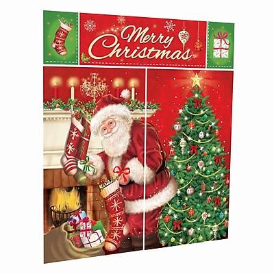 Amscan Magical Christmas Scene Setter Kit, 3/Pack,