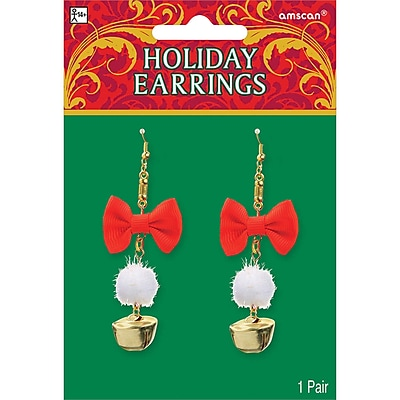 Amscan Holiday Earrings, 3