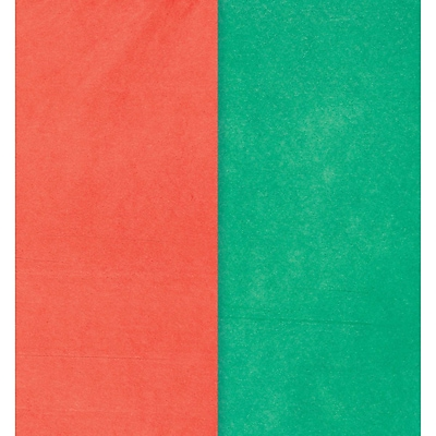 Amscan Tissue Paper, Red/Green, 20