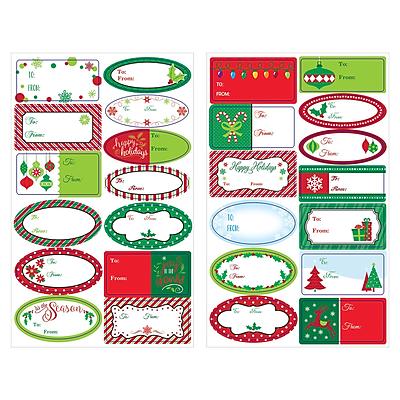 Amscan Holiday Adhesive Labels, 5/Pack, 156 Per Pack (260075)