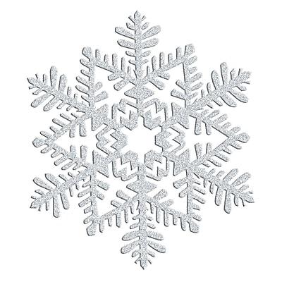 Amscan Glitter Snowflake Decoration, Silver, Plastic, 6.5