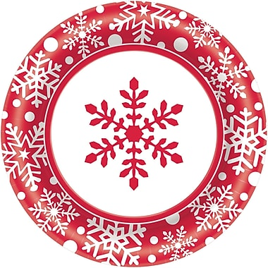 Amscan Winter Holiday Paper Plate, 6.75