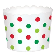"Amscan Mini Polka Dot Christmas Scalloped Cups, Paper, 1.75"" x 2.375"" x 2.375"", 3/Pack, 36 Per Pack (400127)"