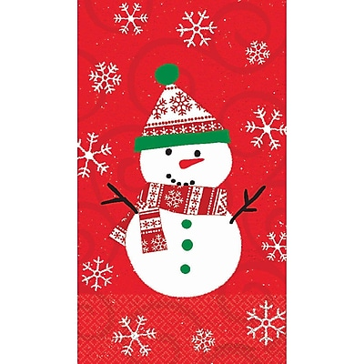 Amscan Very Merry Guest Towel 7.75