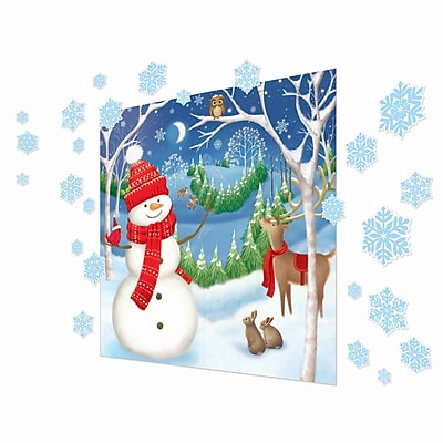 Amscan Winter Friends Scene Setter Kit, 2/Pack, 32 Per Pack (670201)