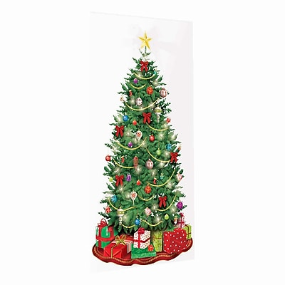 """Amscan Classic Christmas Tree Scene Setter, 65"""" x 33.5"""", 5/Pack (670228)"""