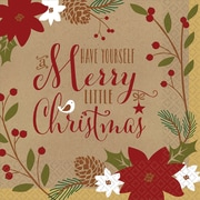 """Amscan Merry Little Christmas Luncheon Napkin, 6.5"""" x 6.5"""", 3/Pack, 36 Per Pack (711557)"""