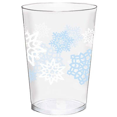 Amscan Snowflake Plastic Tumblers, 10oz (580006) 2536838
