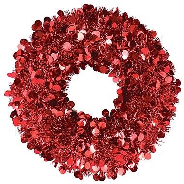 Amscan Tinsel Wreath, Red, 17