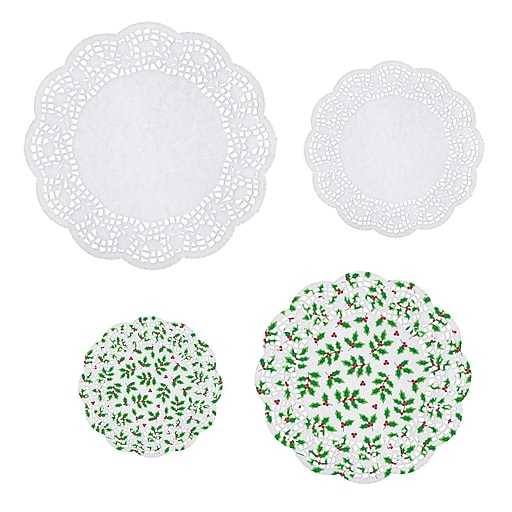 Amscan Holly Doilies, 4/Pack, 40 Per Pack (140116)