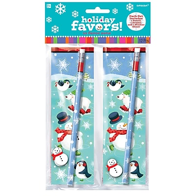 Amscan Christmas Favor Set, 3/Pack, 12 Per Pack (393107) 2537150
