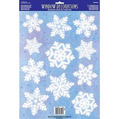 Amscan Snowflake Window Decoration, 6/Pack (210222)