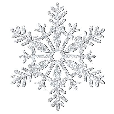 Amscan Glitter Snowflake Decoration, Silver, Plastic, 11