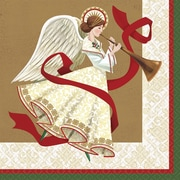 """Amscan Holiday Spirit Dinner Napkin, 7.75"""" x 7.75"""", 5/Pack, 16 Per Pack (521686)"""