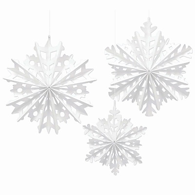 Amscan Snowflake Fan Decorating Kit, Paper, 2/Pack, 3 Per Pack (290956)