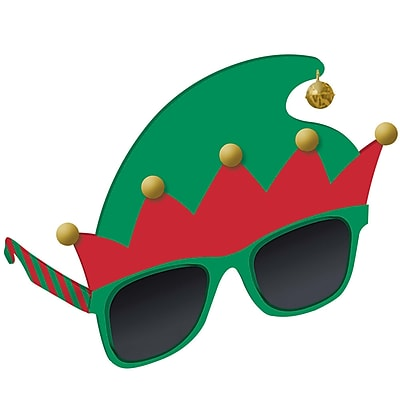 Amscan Elf Hat Glasses, 5.25